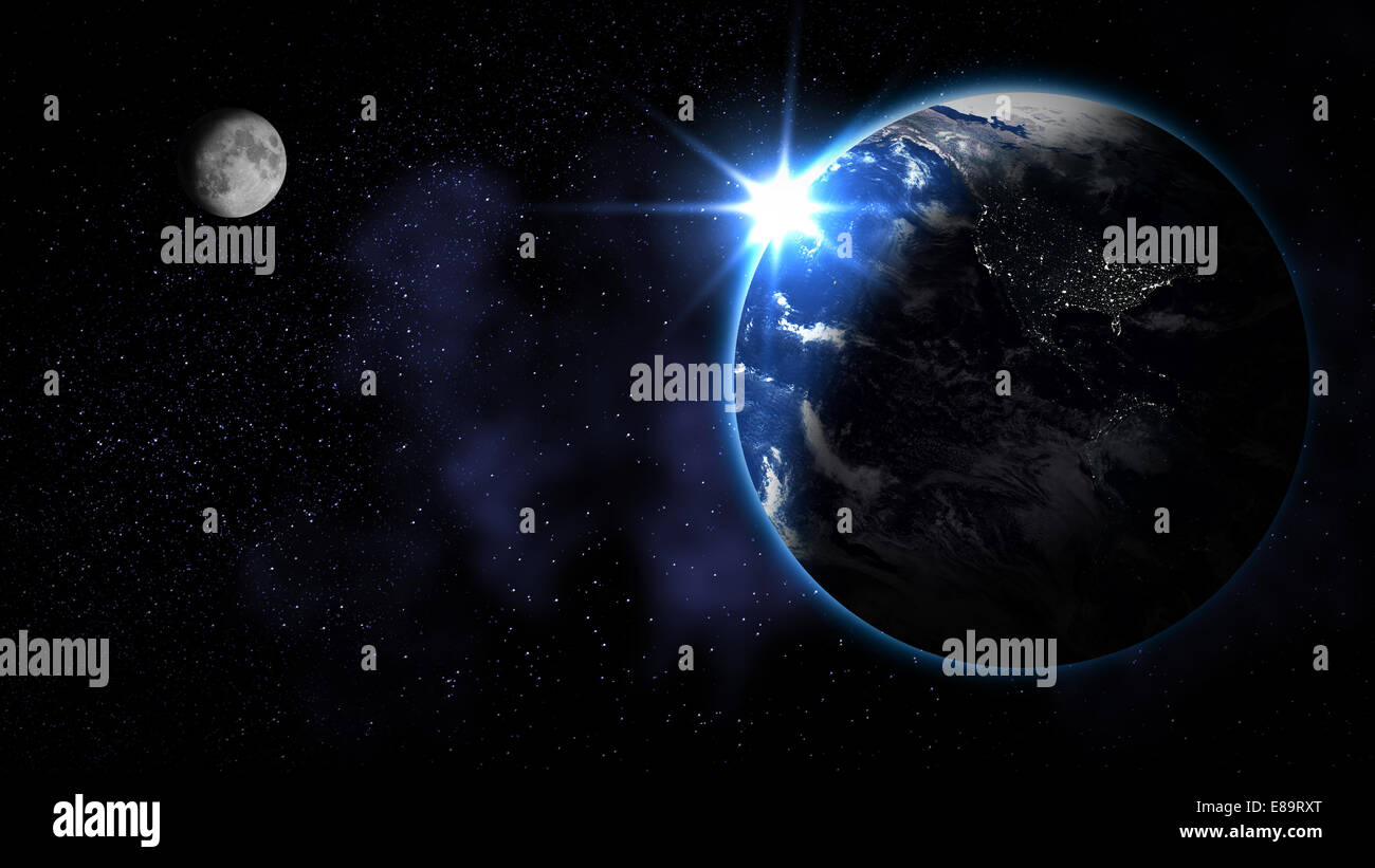 Abstract Earth from space (Elements of this image furnished by NASA) - Stock Image