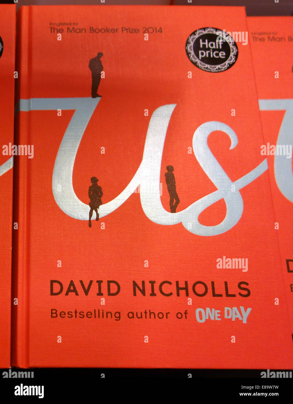 'Us' by David Nicholls, author of bestseller 'One Day', London - Stock Image