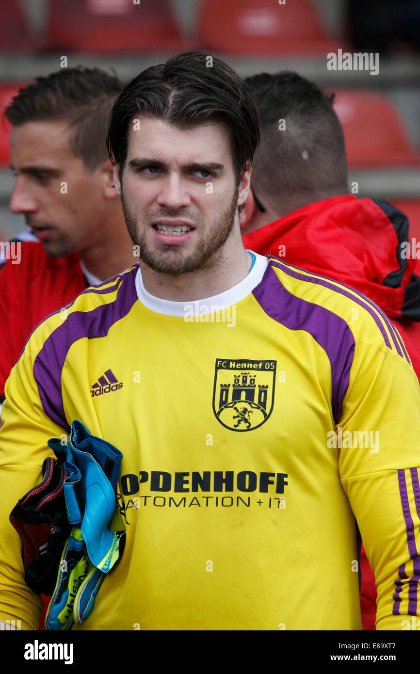 sports, football, Regional League West, 2014/2015, Rot Weiss Oberhausen versus FC Hennef 05 3:0, Stadium Niederrhein - Stock Image