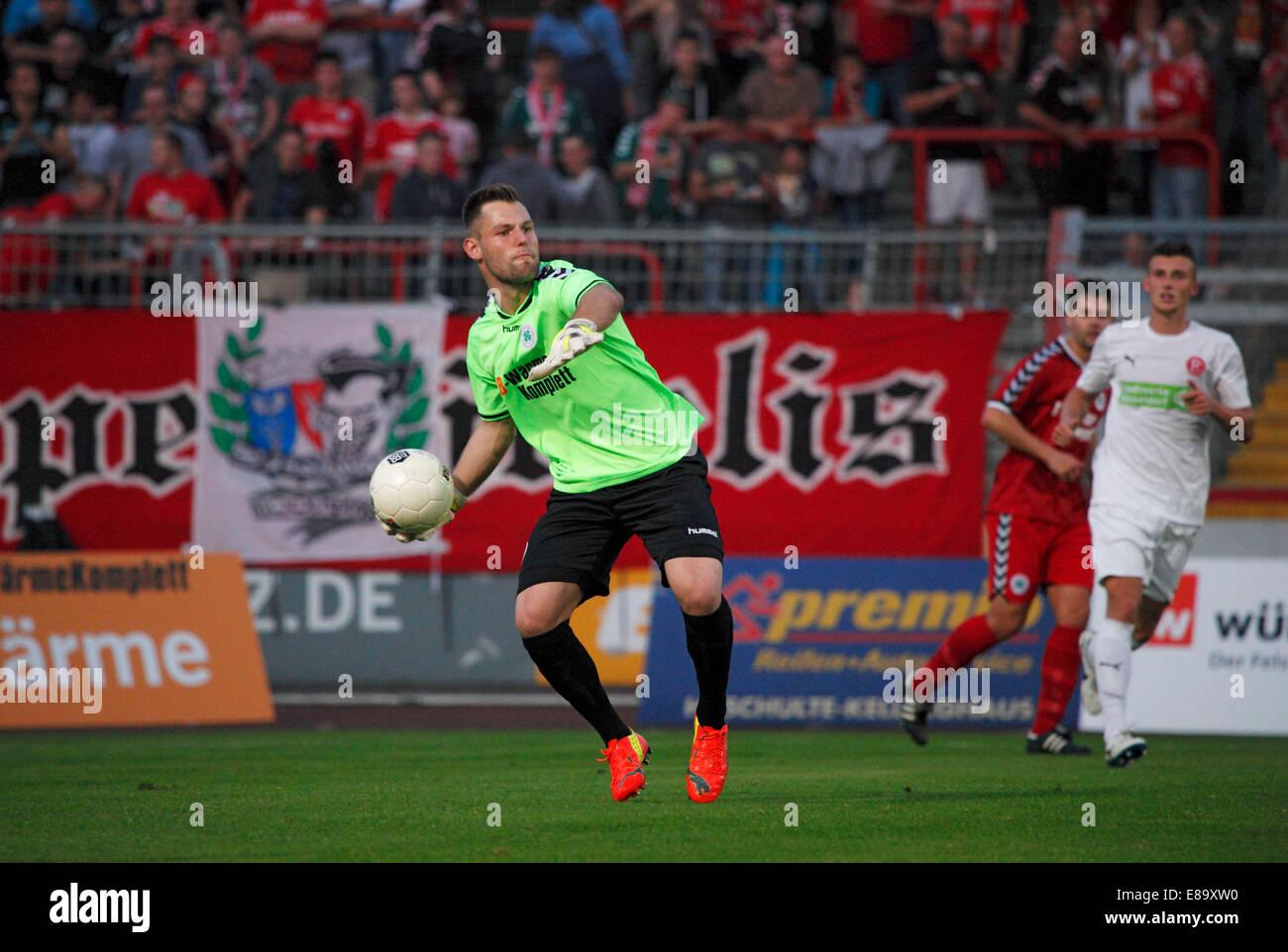sports, football, Regional League West, 2014/2015, Rot Weiss Oberhausen versus Fortuna Duesseldorf U23 3:1, Stadium - Stock Image