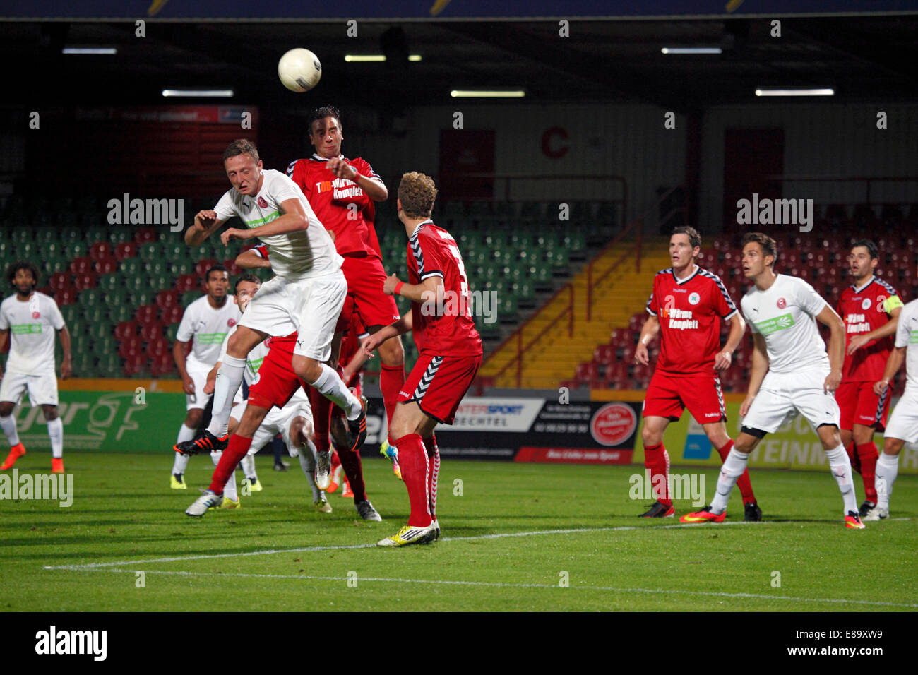 sports, football, Regional League West, 2014/2015, Rot Weiss Oberhausen versus Fortuna Duesseldorf U23 3:1, Stadium - Stock Image