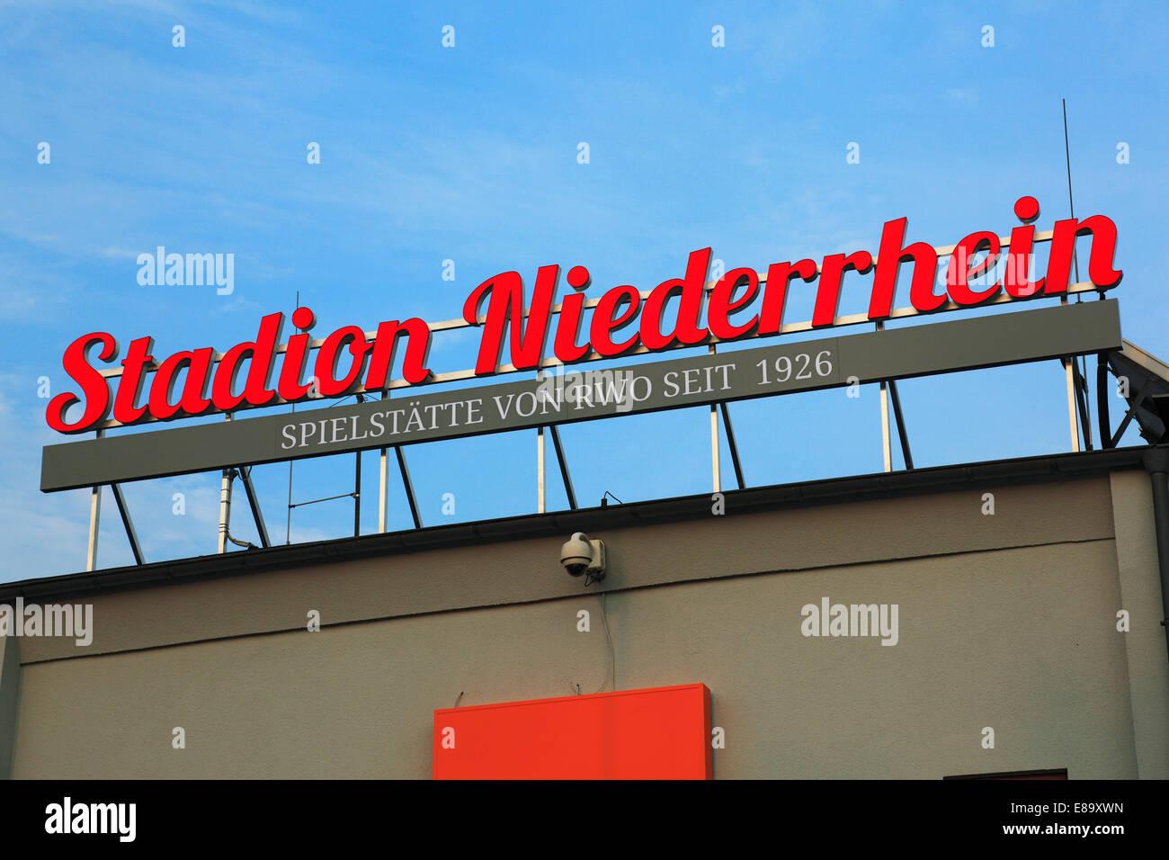 sports, football, Regional League West, 2014/2015, Rot Weiss Oberhausen versus VfL Sportfreunde Lotte 0:1, lettering - Stock Image