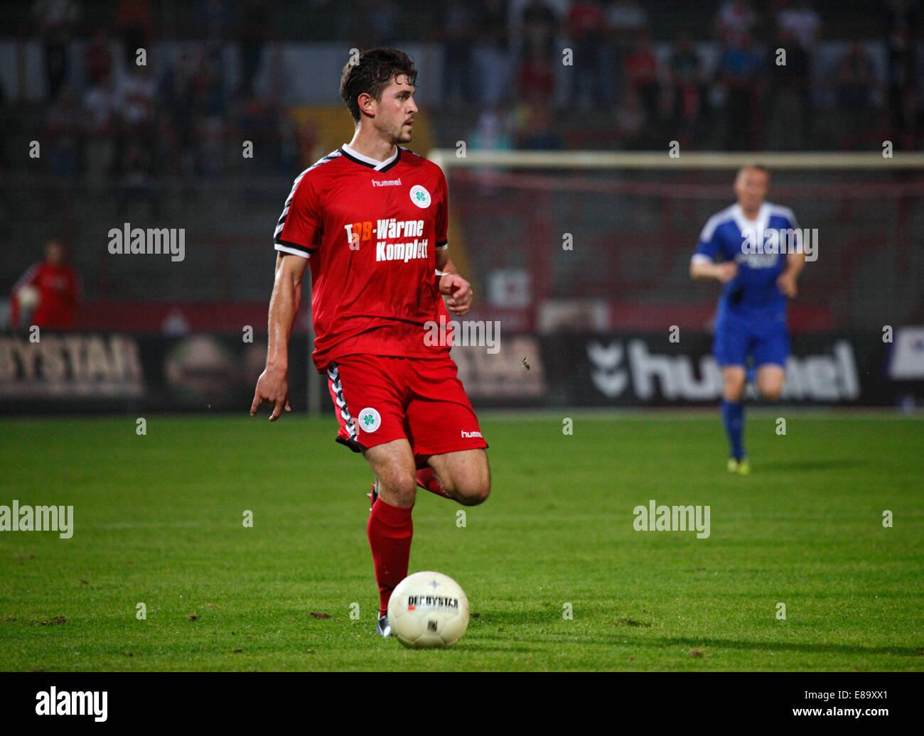 sports, football, Regional League West, 2014/2015, Rot Weiss Oberhausen versus VfL Sportfreunde Lotte 0:1, Stadium - Stock Image