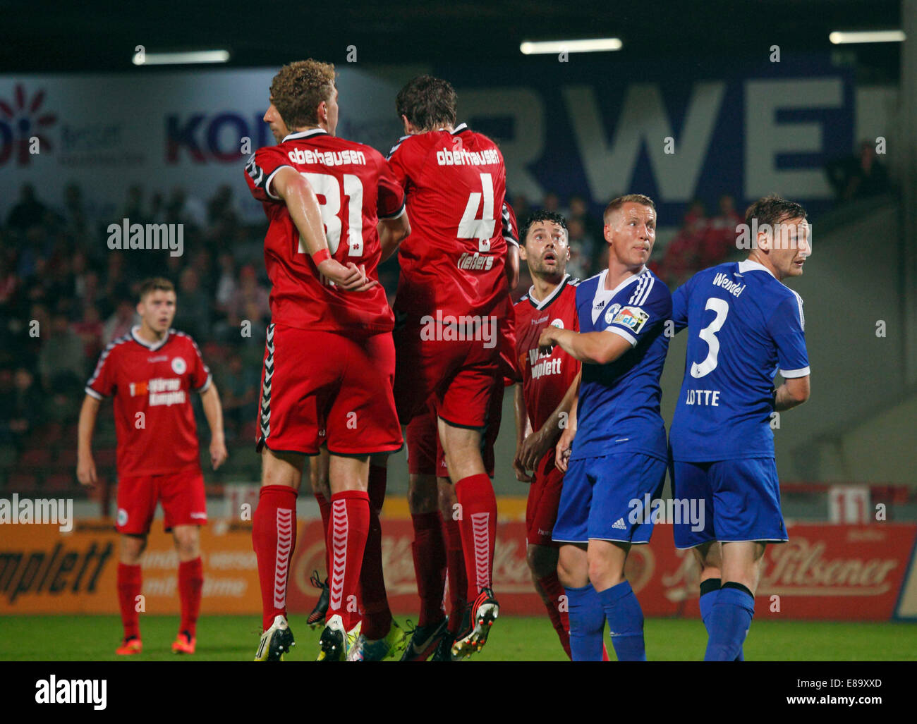 sports, football, Regional League West, 2014/2015, Rot Weiss Oberhausen versus VfL Sportfreunde Lotte 0:1, Stadium - Stock Image