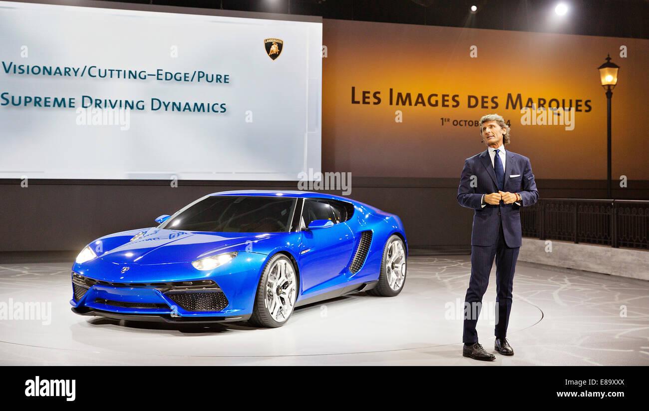Stephan Winkleman Lamborghini Ceo Presents Concept Car Lamborghini
