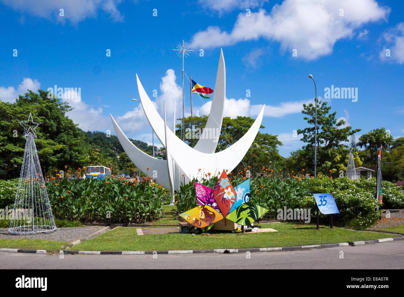 Bicentennial Monument, Victoria, Mahé, Seychelles - Stock Image