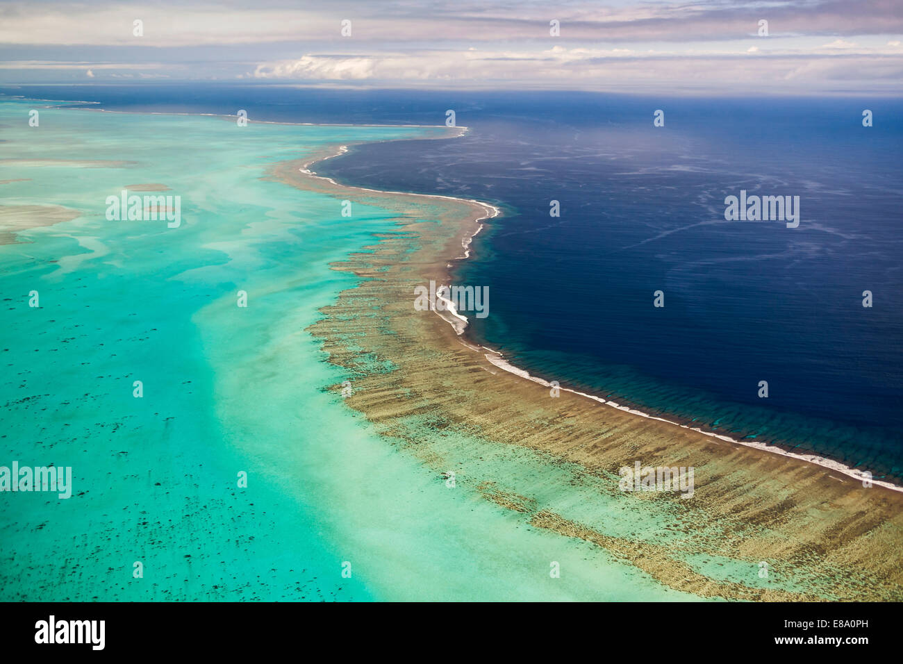 Barrier of the coral reef of Grande Terre, New Caledonia - Stock Image