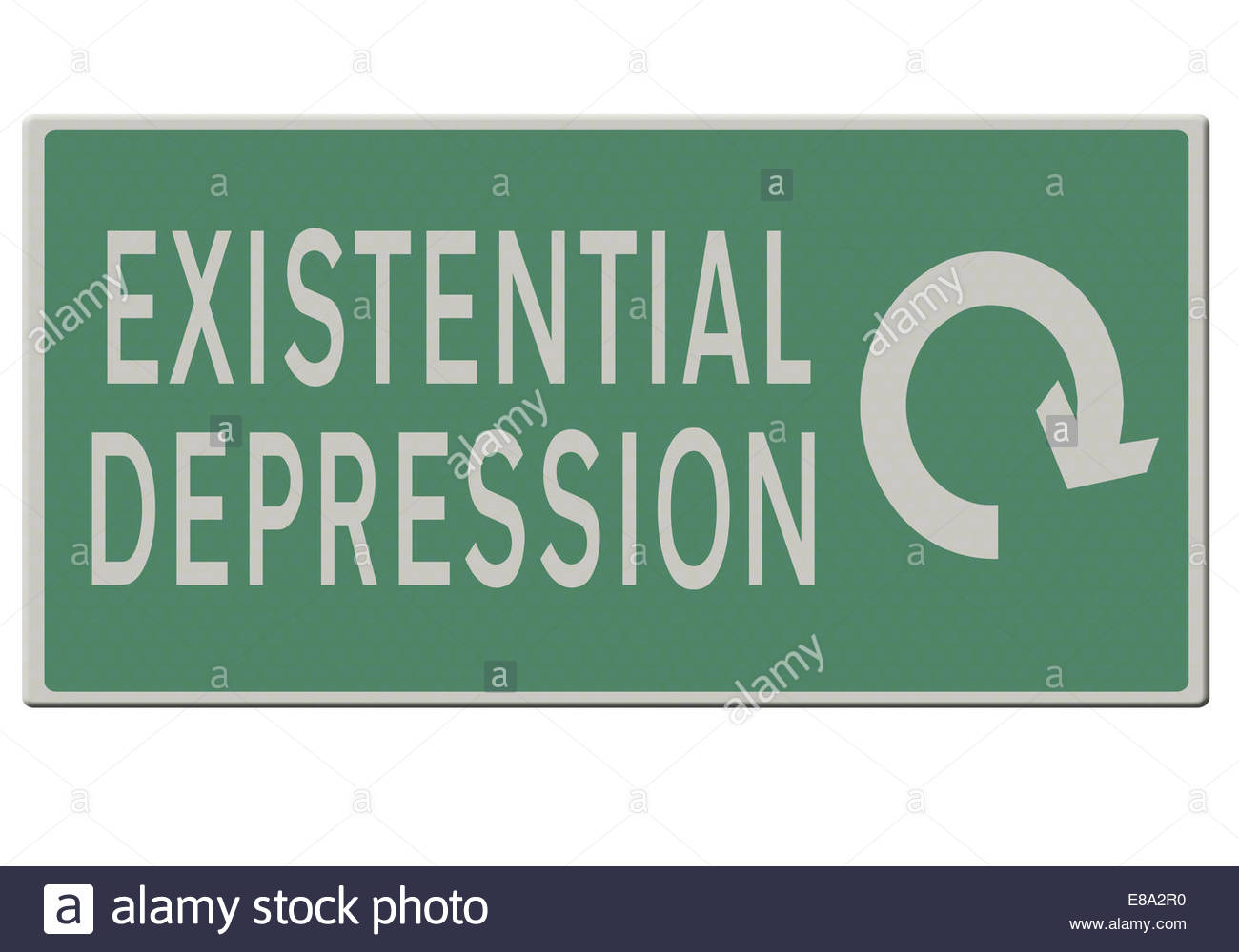 Digital illustration - existential depression, going around in circles - Stock Image