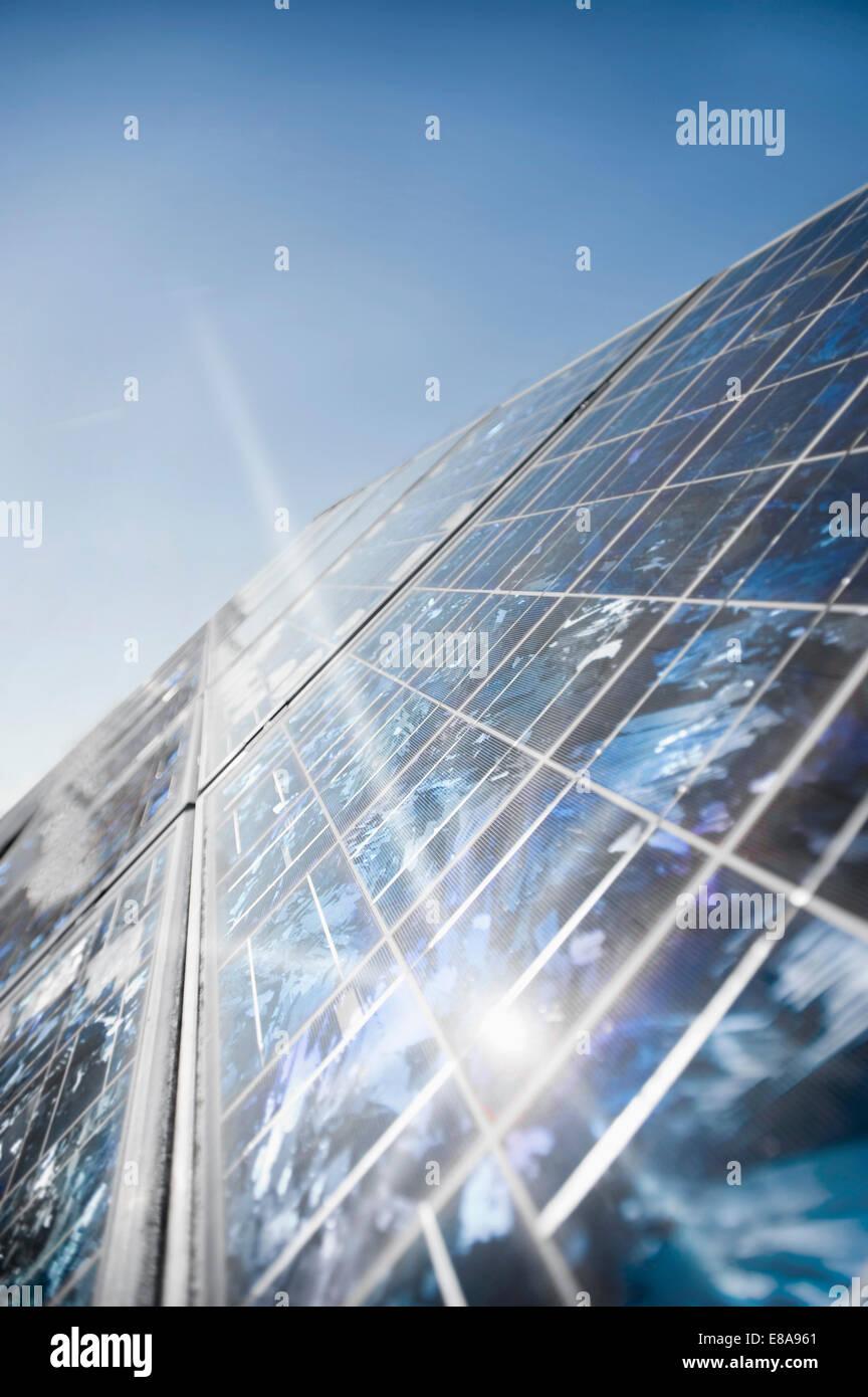 Solar panels, Bavaria, Germany Stock Photo