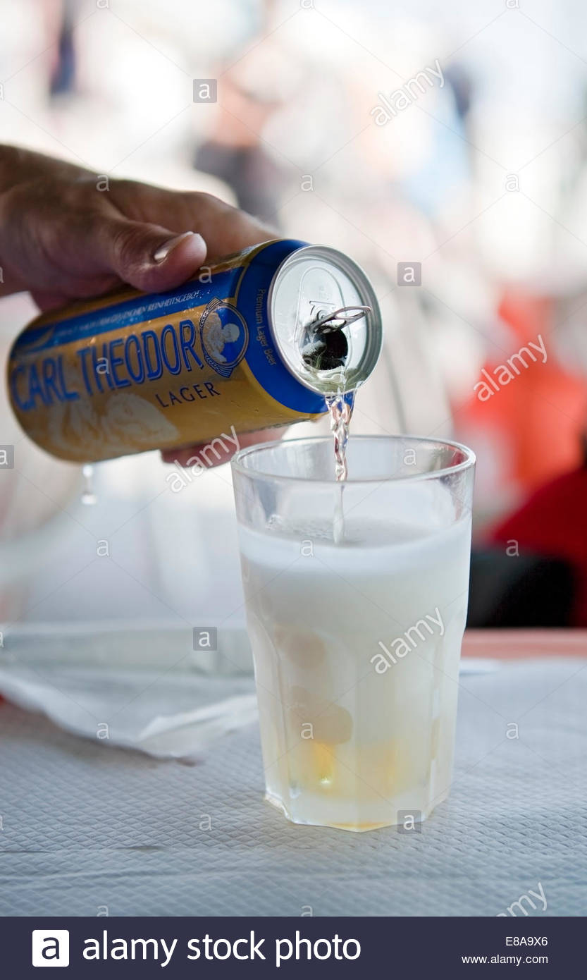 Cold beer in the summer - Stock Image