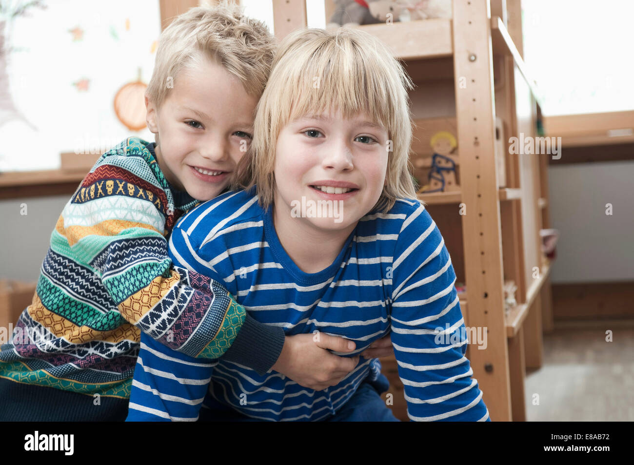 Two brothers side by side - Stock Image