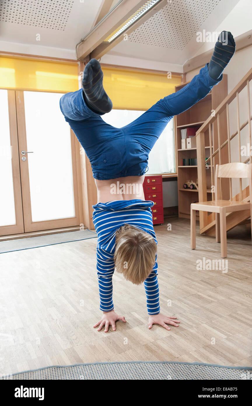Boy breakdancing Stock Photo