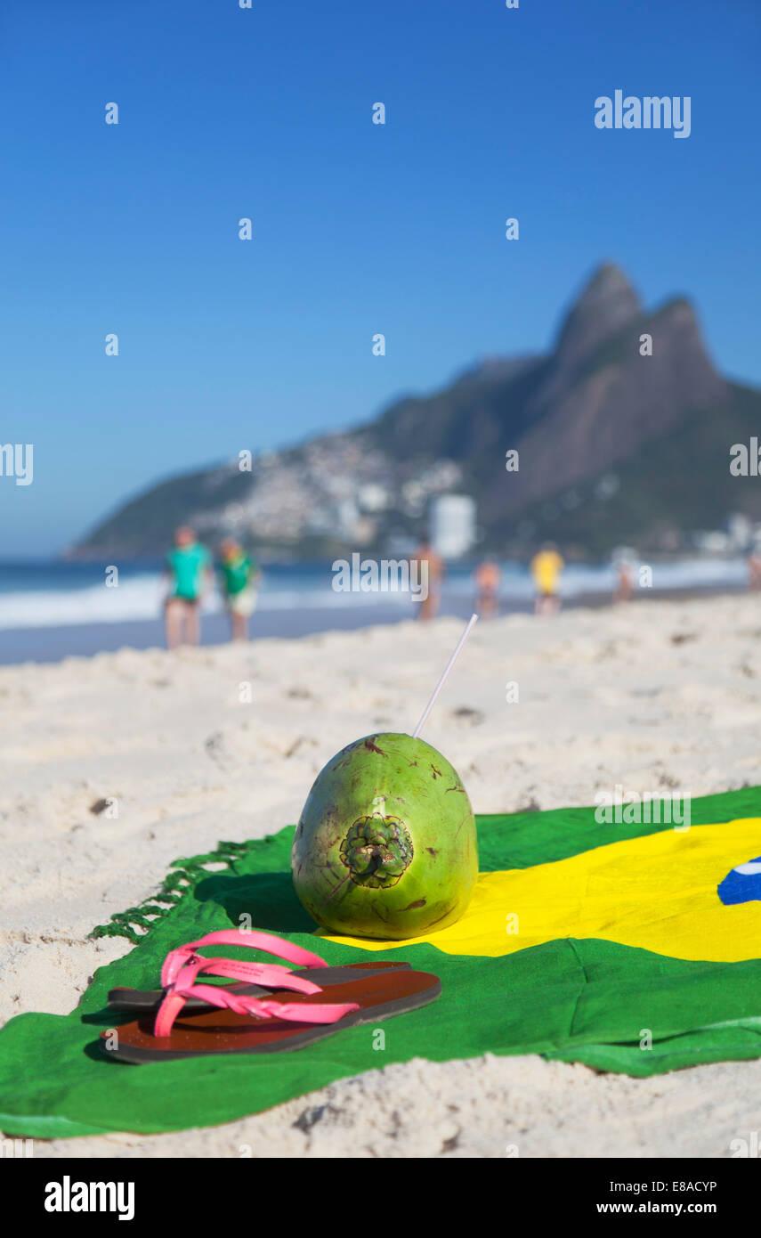 051d5bb4445 Brazilian Flag Flip Flops Sandals Stock Photos   Brazilian Flag Flip ...
