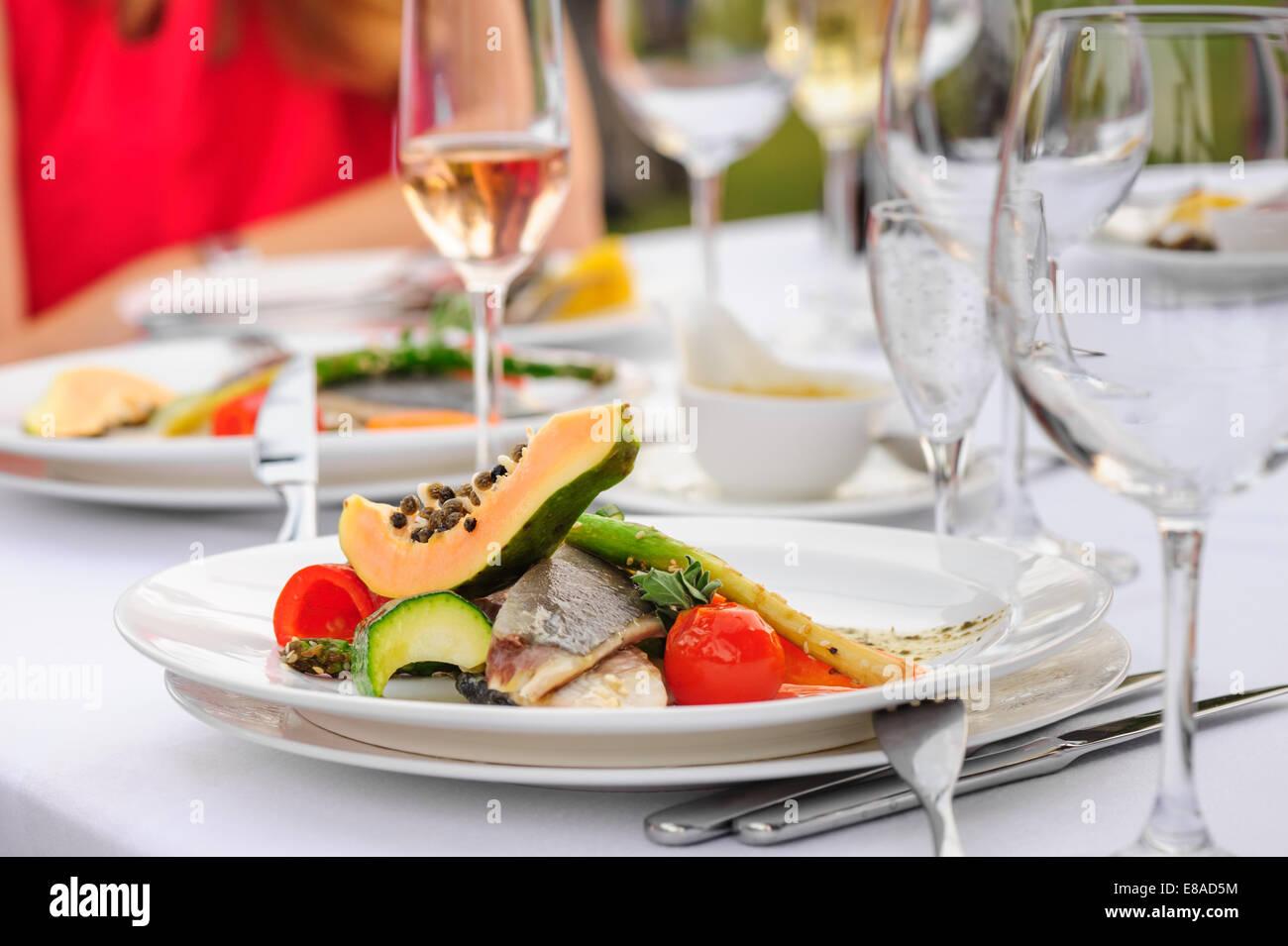 Prepared fish - Stock Image