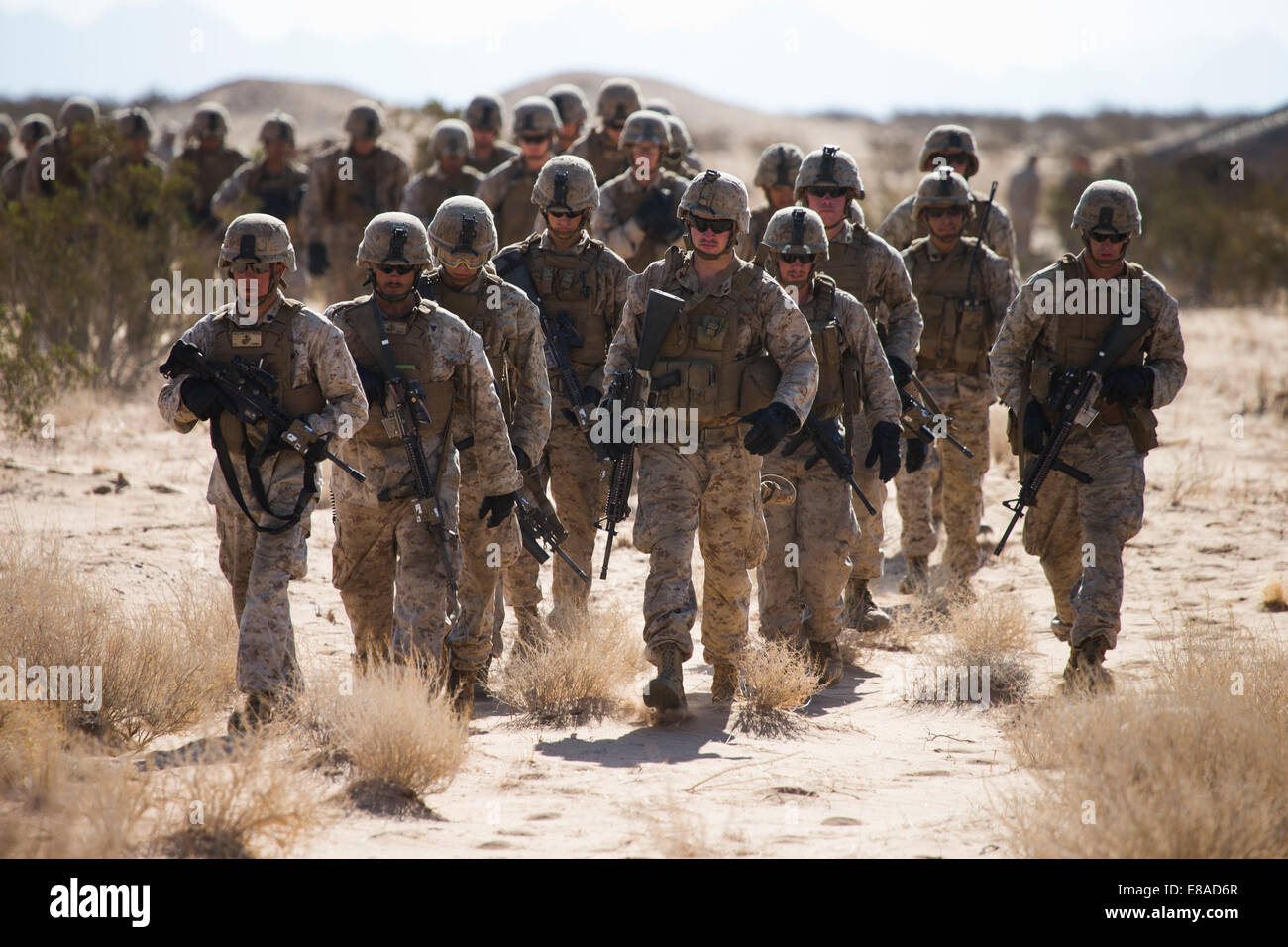 U.S. Marines with 3rd Battalion, 3rd Marine Regiment, 3rd Marine Division, 3rd Marine Expeditionary Force participate Stock Photo