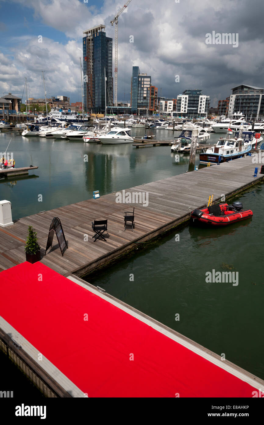 ocean village marina southampton hampshire england Stock Photo
