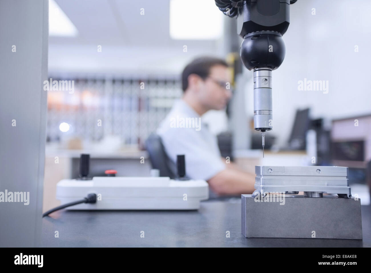 Machine used in CNC engineering - Stock Image