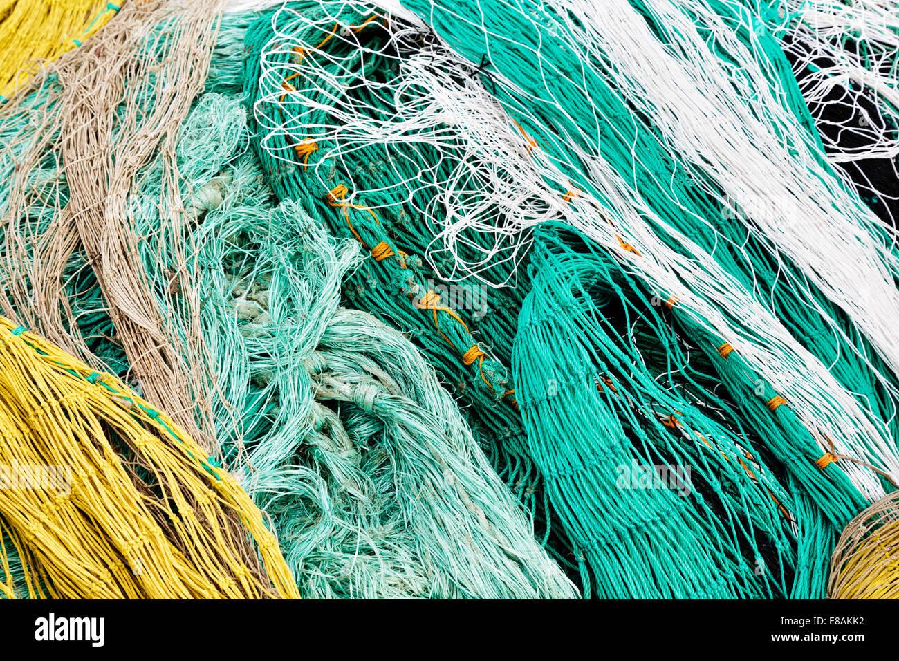 Closeup of varicolored netting - Stock Image