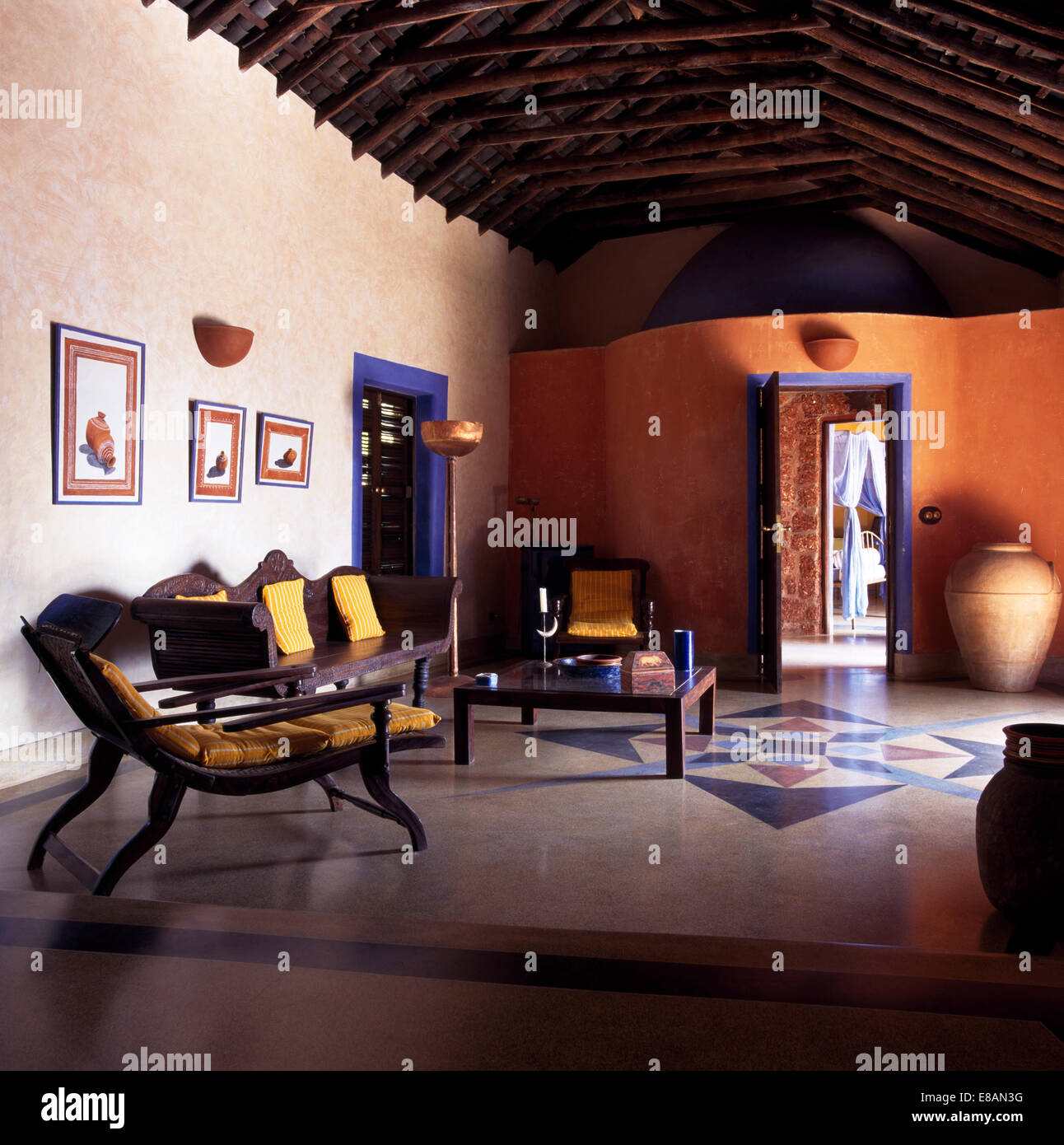 Marble Floor In Indian Living Room Stock Photo 73994804 Alamy