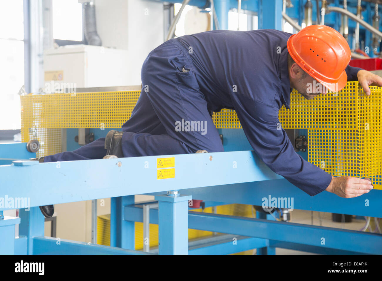 Worker in industrial plant Stock Photo