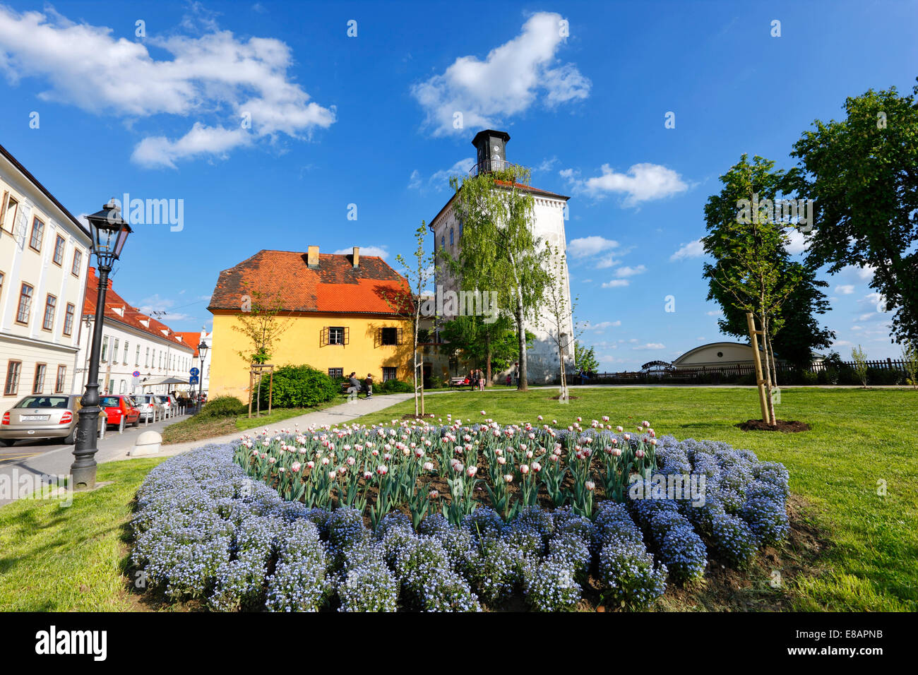 Zagreb Lotrscak tower, up town - Stock Image