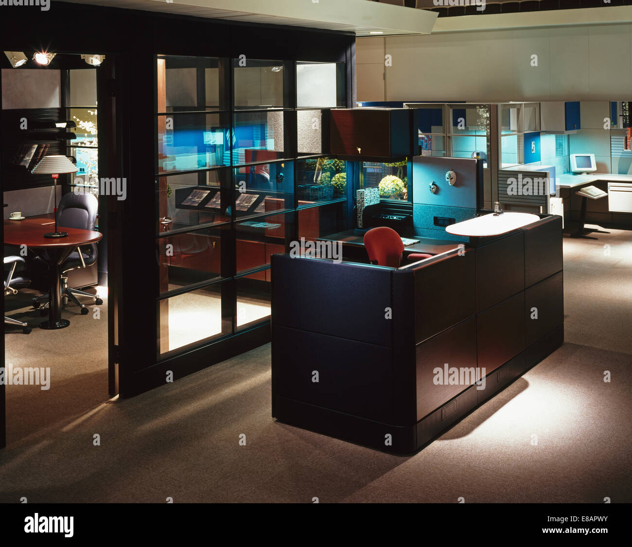 Inside an eighties office - Stock Image