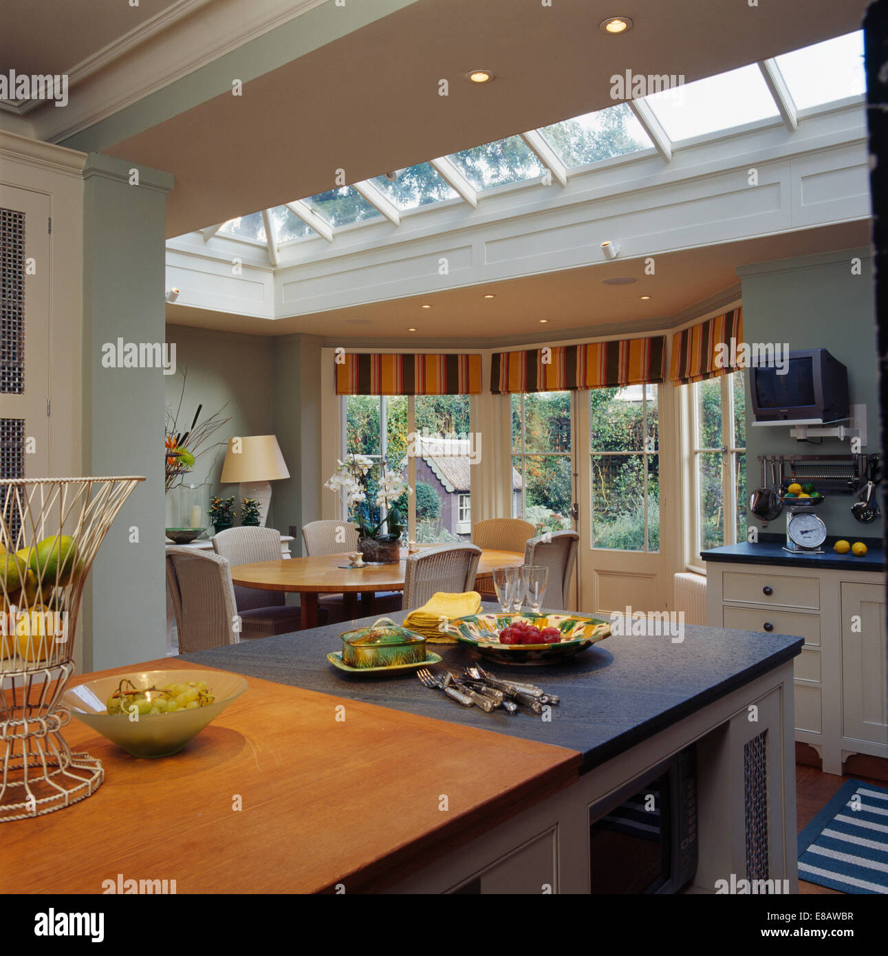 Large Modern Kitchen Extension With Dining Area In Front