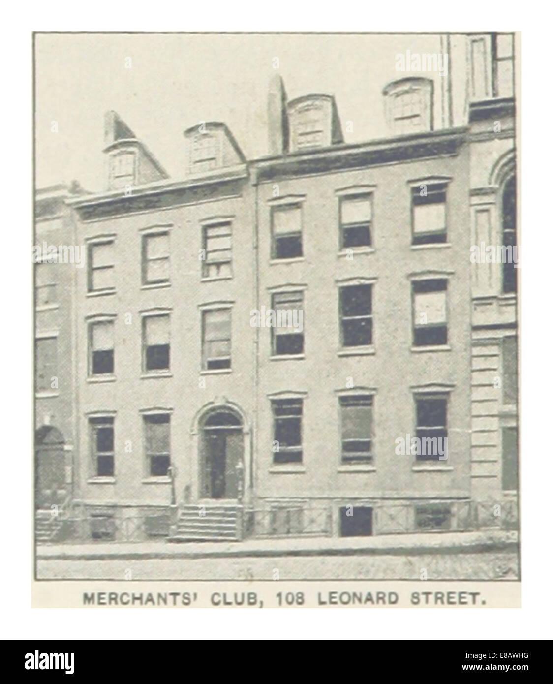 (King1893NYC) pg564 MERCHANTS' CLUB, 108 LEONARD STREET - Stock Image