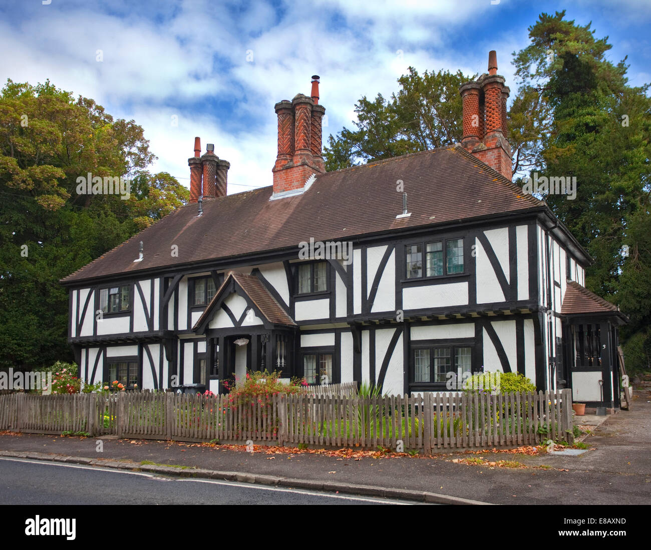 Tudor Cottage, Hursley, Hampshire, England - Stock Image