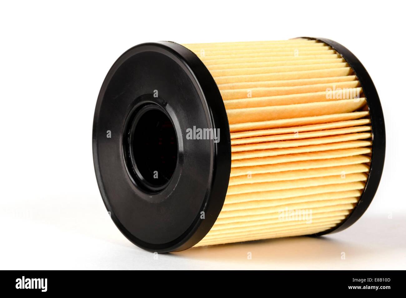 Oil filter element - Stock Image