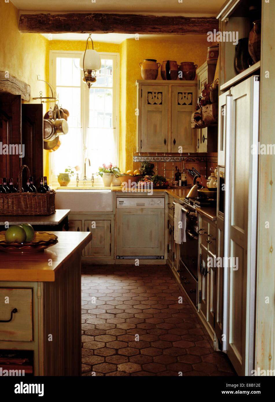 Terracotta Tiled Floor In Country Stock Photos Terracotta Tiled