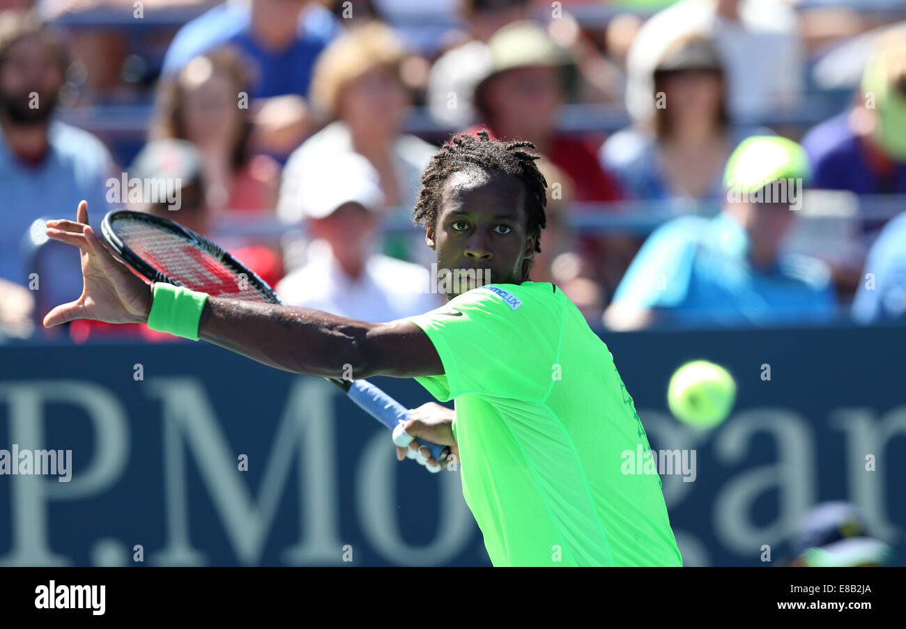 Gael Monfils (FRA) in action at the US Open 2014 Championships inFlushing Meadows, New York,USA. - Stock Image