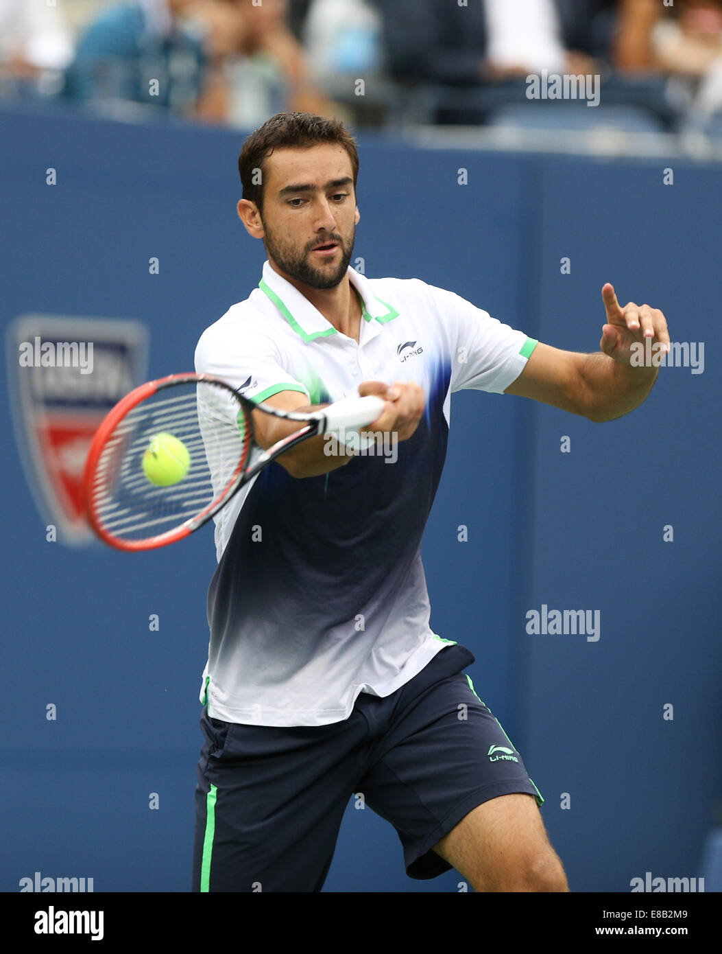 Marin Cilic (CRO) in action at the US Open Championships 2014 in New York,USA. - Stock Image