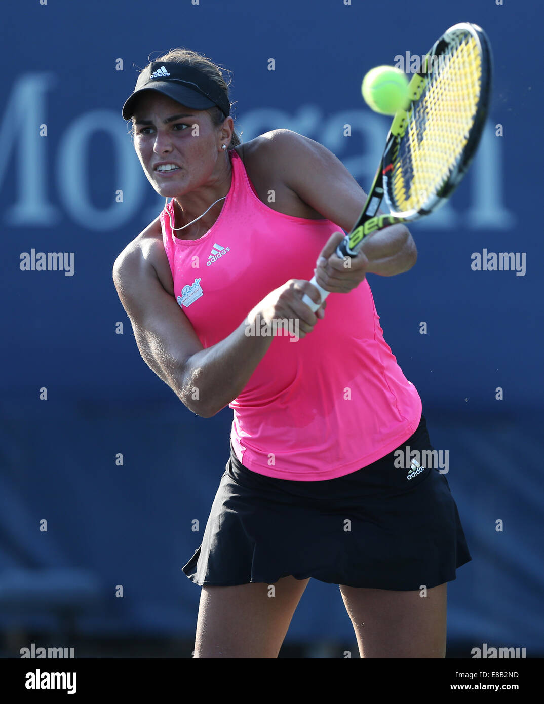 Monica  Puig (PUR ) in action at the US Open 2014 Championships in New York,USA - Stock Image