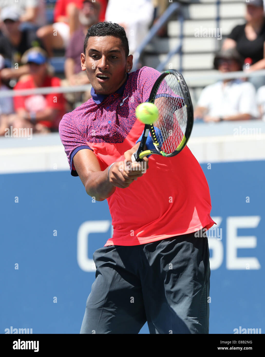 Nick Kyrgios (AUS) in action at the US Open 2014 Championships in New York,USA. - Stock Image