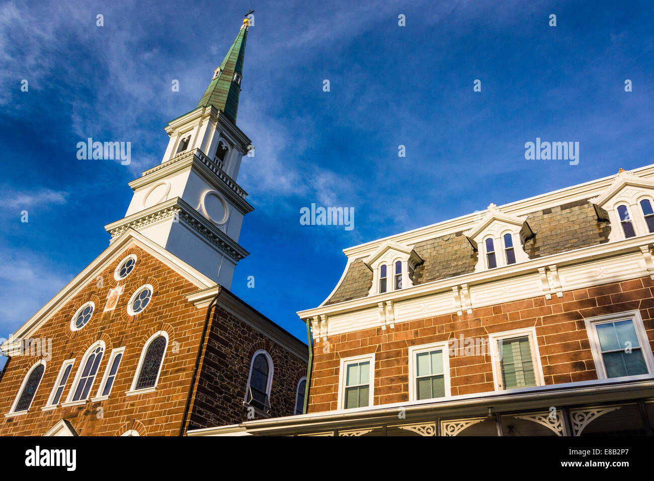 The Basilica of the Sacred Heart of Jesus, in Hanover, Pennsylvania. - Stock Image