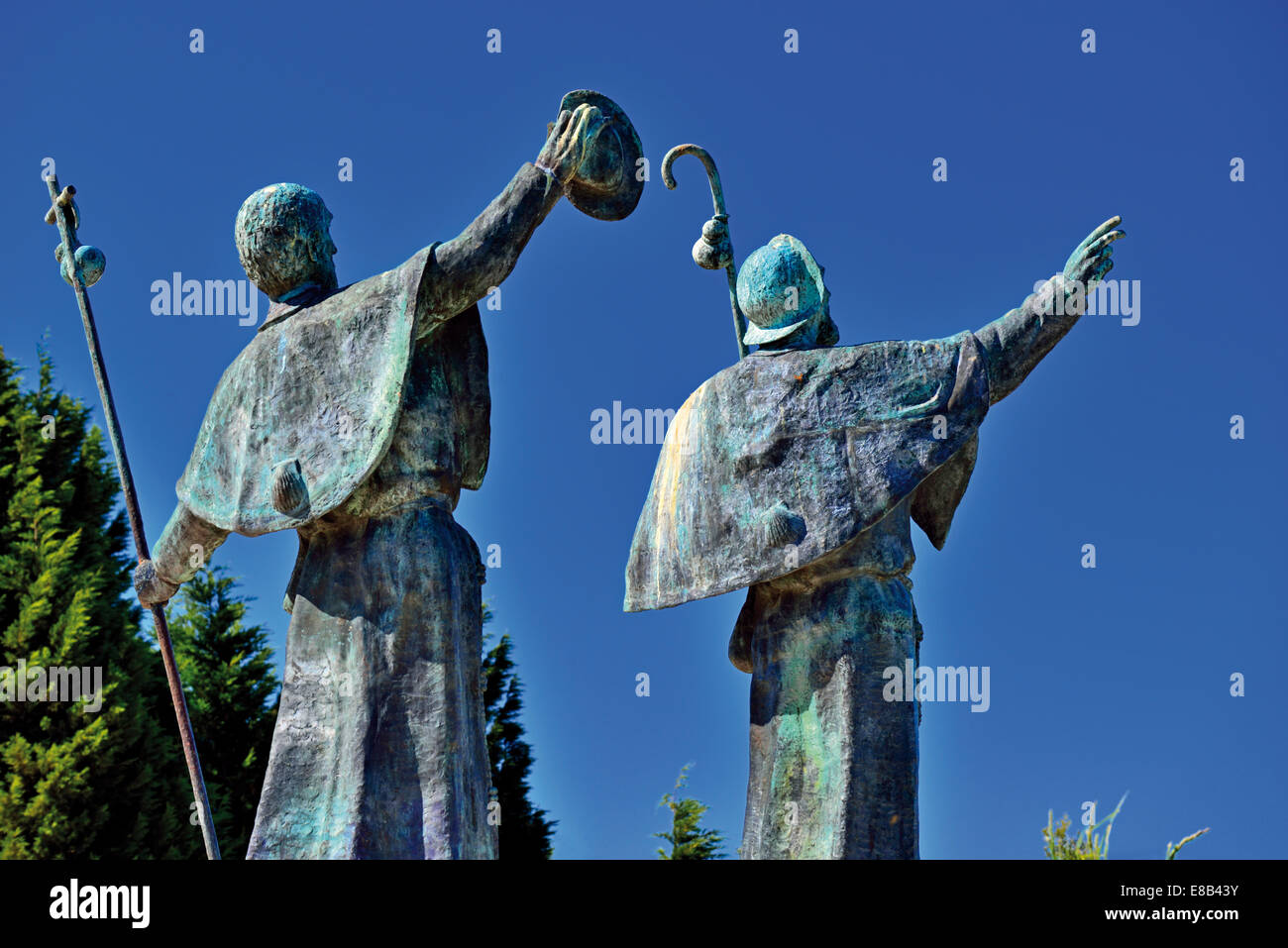 Spain, Galicia: Pilgrim´s monument at Monte do Gozo - Stock Image