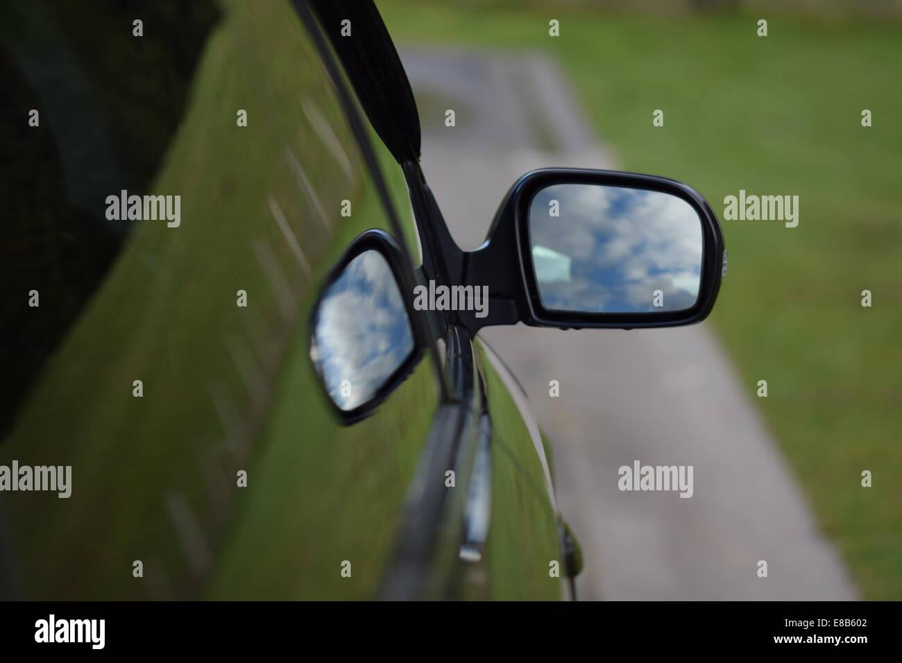 Car Wing Mirror - Stock Image