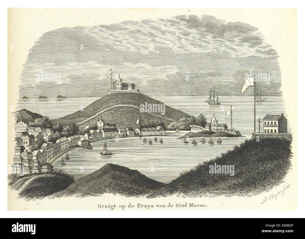 BOELEN(1836) T3 p011 PRAYA VAN DE STAD MACAO - Stock Image
