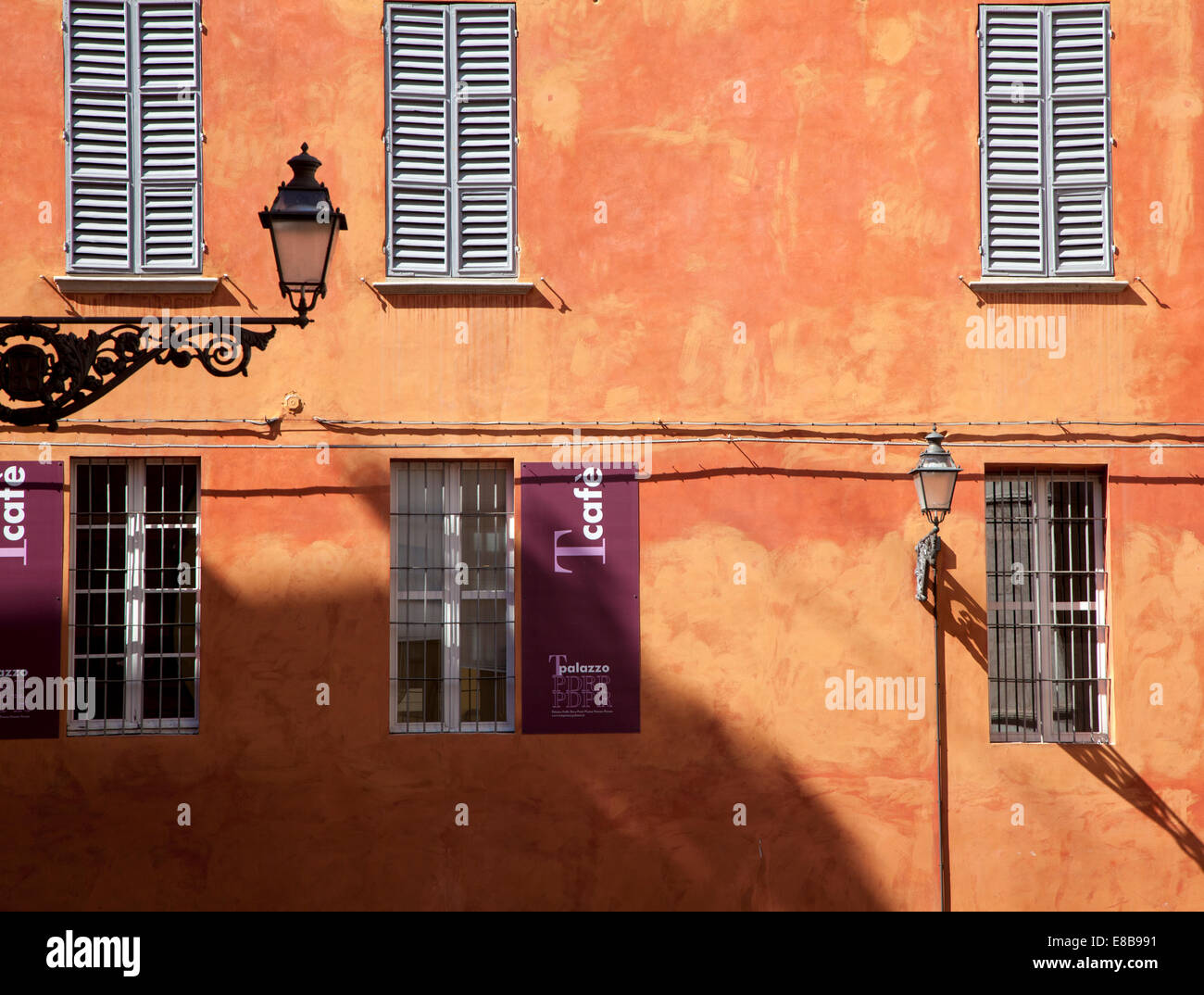 Richly coloured building in Parma, Emilia-Romagna, Italy - Stock Image