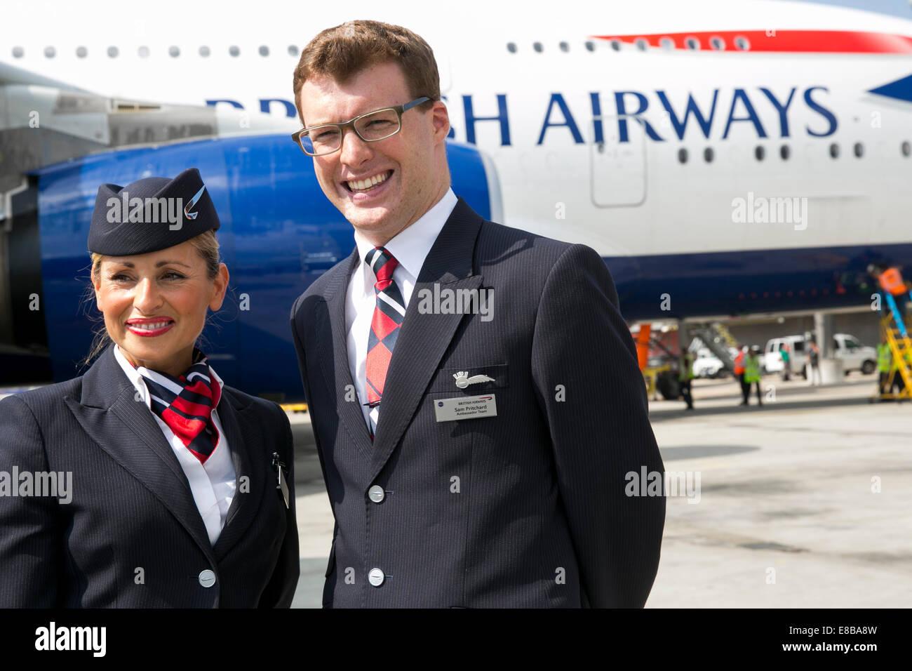 British Airways Stewardess Stock Photos & British Airways