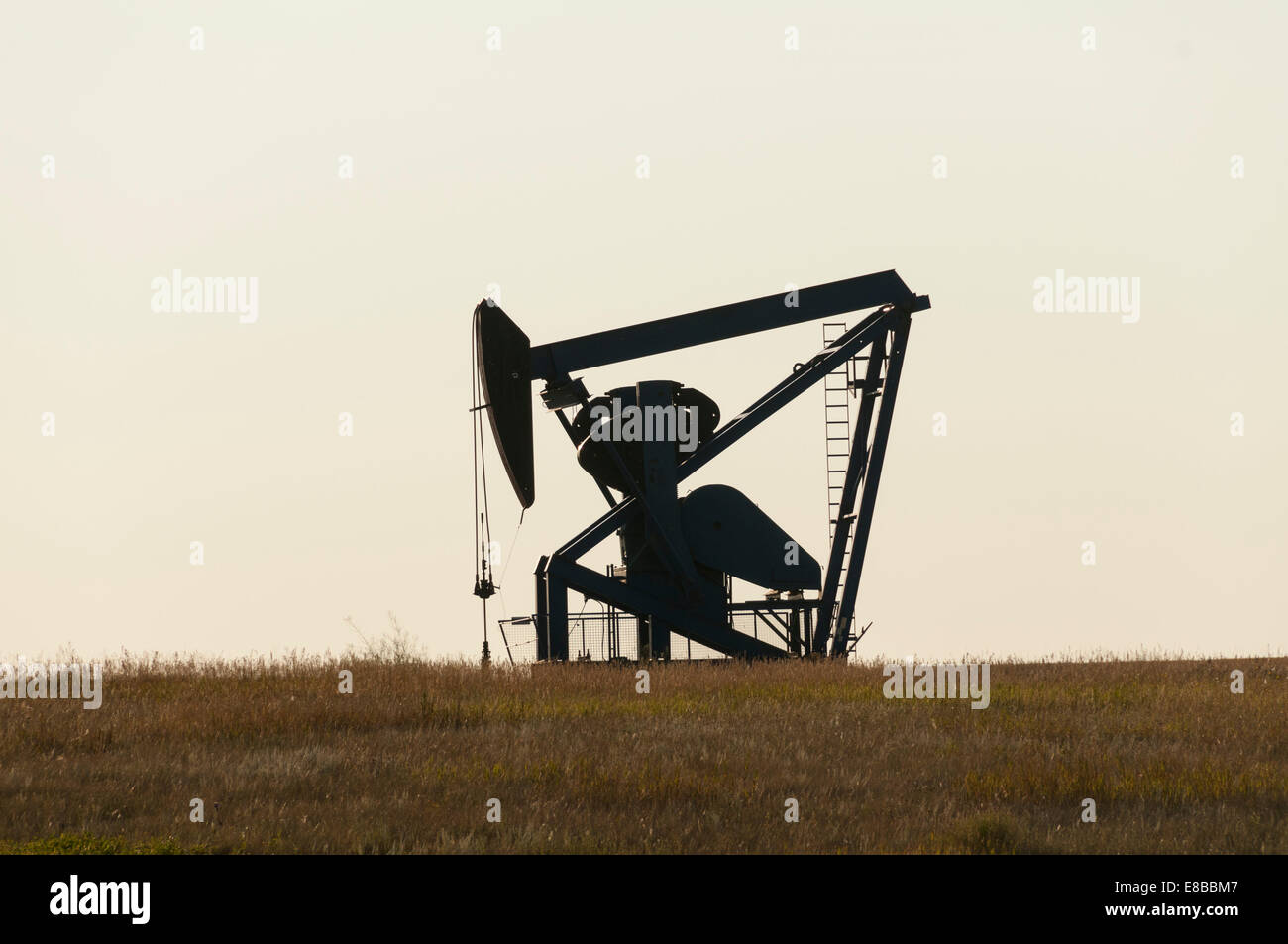 Elk203-6572 Canada, Alberta, Drumheller, oil well rocker pump - Stock Image