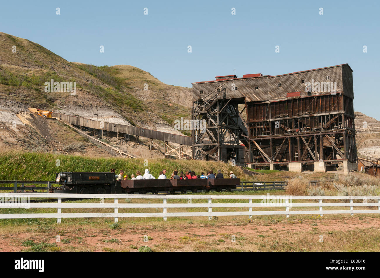 Elk203-6657 Canada, Alberta, Drumheller, Atlas coal mine Stock Photo
