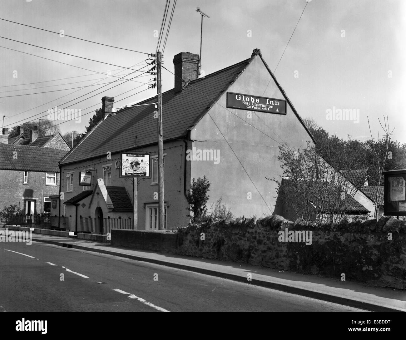 globe inn misterton in 1974 number 0190 - Stock Image