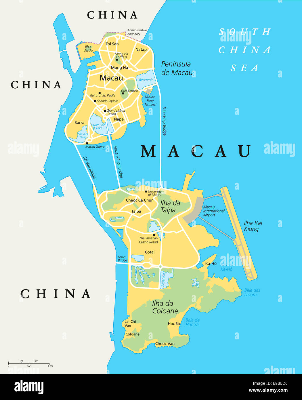 Macau political map special administrative region of the peoples macau political map special administrative region of the peoples republic of china and the worlds largest gambling centre gumiabroncs Images