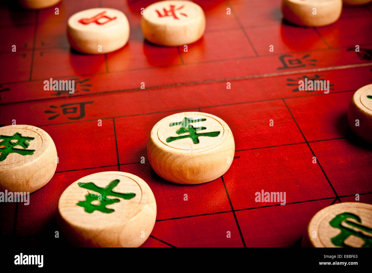 game of Xiangqi or Chinese chess - Stock Image