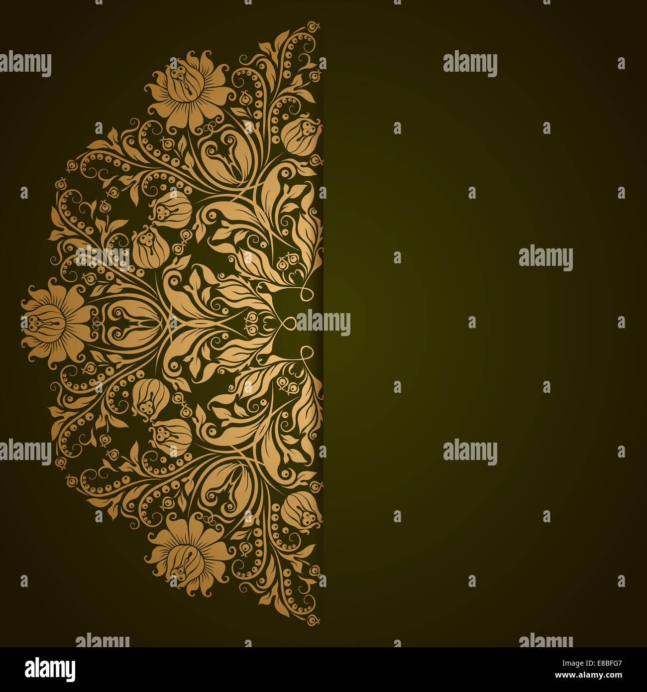 Elegant background with lace ornament - Stock Image