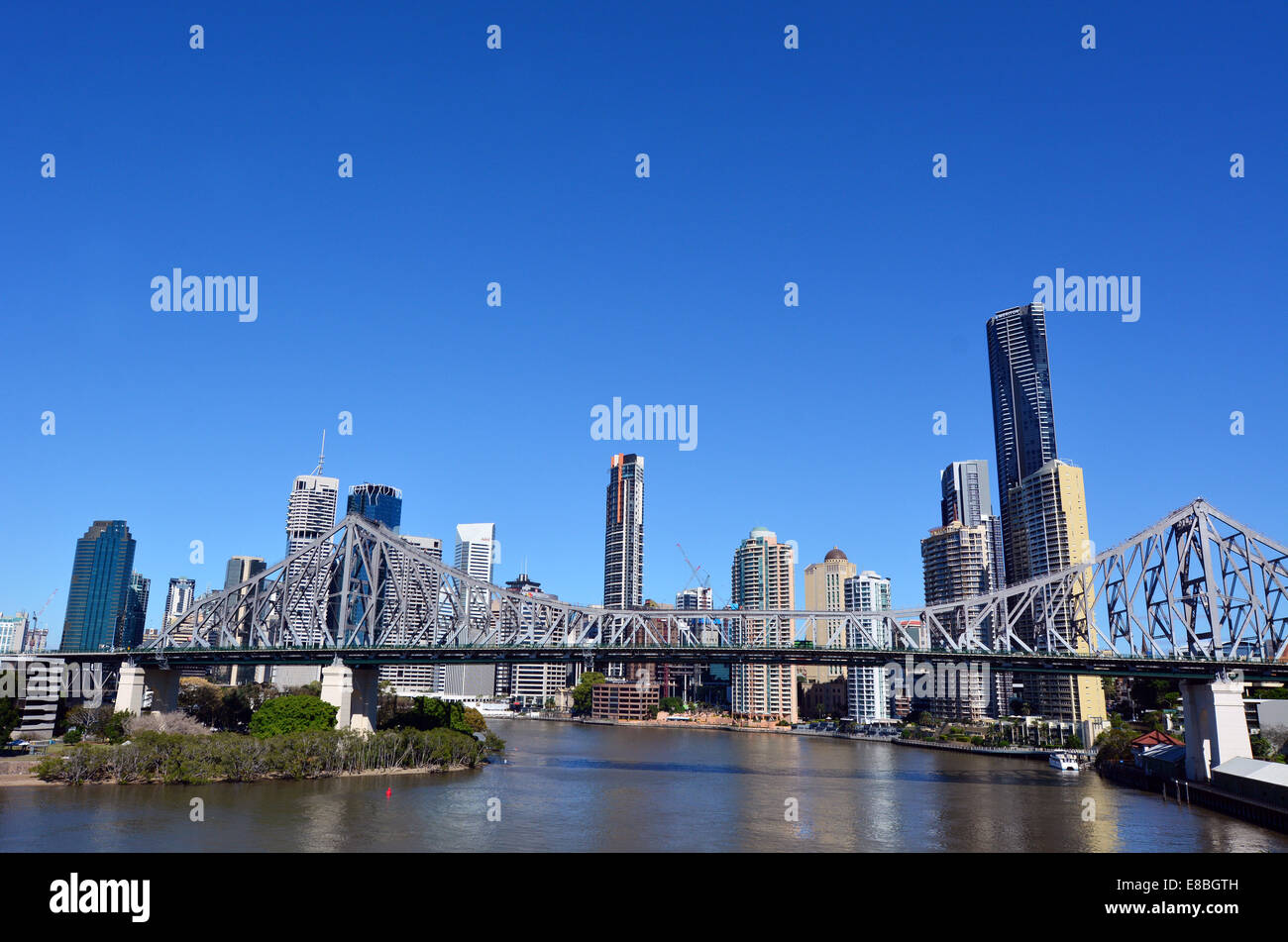 BRISBANE, AUS - SEP 24 2014:Brisbane Skyline.It is Australias third largest city, with its fastest growing economy - Stock Image