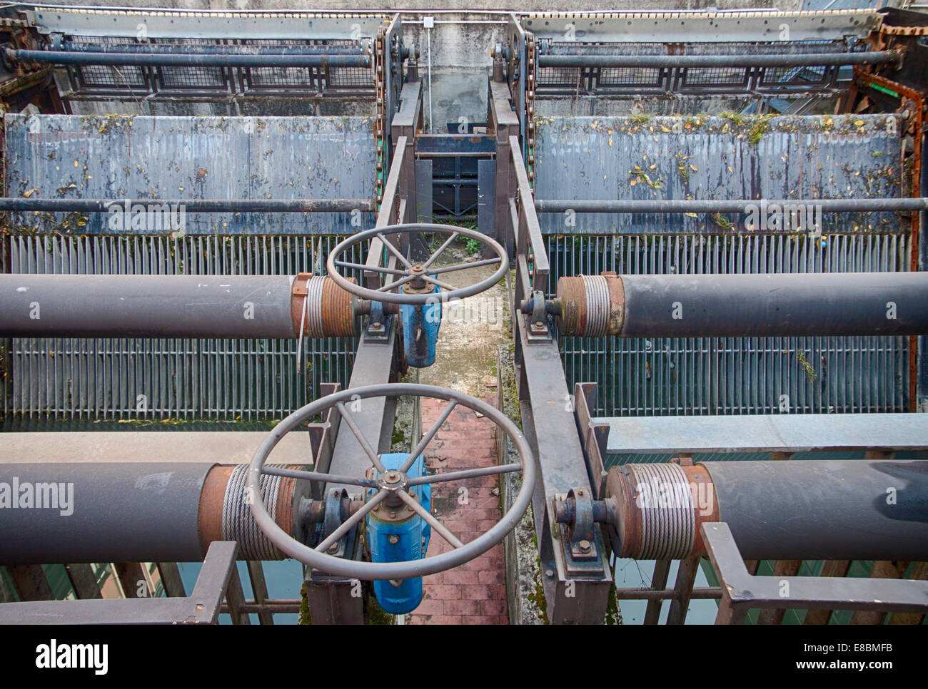 gate valve in Bologna - Stock Image