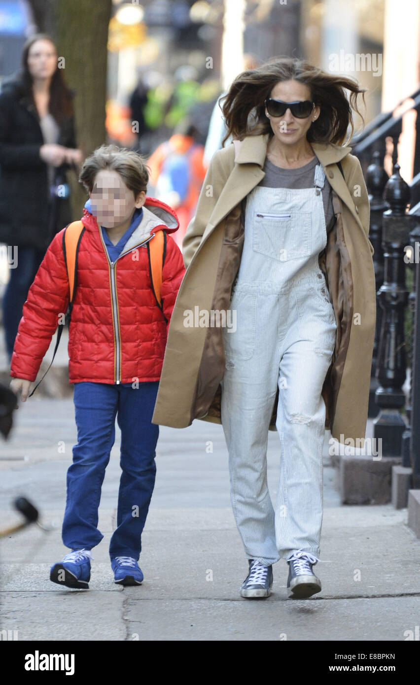 sarah jessica parker and james wilkie broderick stock